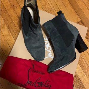 Christian Louboutin sz 36 blue/grey suede boots